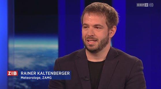 """ZAMG-Experte Rainer Kaltenberger in der """"Zeit im Bild 2"""""""