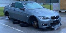 Dreiste Felgen-Diebe demontieren BMW vor Fußballplatz