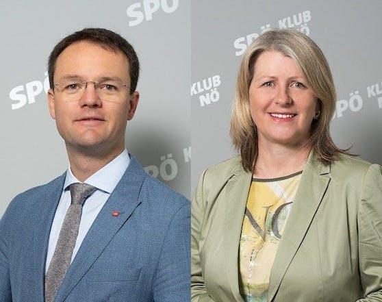 Landtagsabgeordneter René Pfister und Landtagsabgeordnete Karin Scheele (beide SP) hoffen auf Anstellung für pflegende Angehörige.