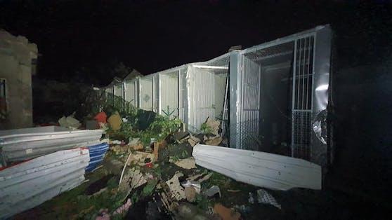 Das im Zoo befindliche Tierheim in Hodonin wurde komplett verwüstet.