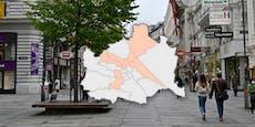 In diesen 9 Wiener Bezirken ist Corona noch nicht besiegt