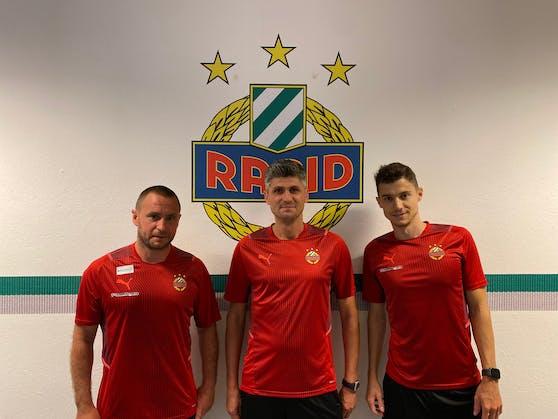 Das neue Trainerteam von Rapid II.