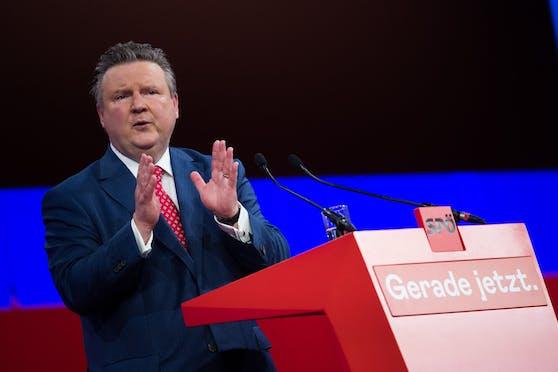 Wiens Bürgermeister Michael Ludwig am Samstag, 26. Juni 2021, beim SPÖ-Bundesparteitag.