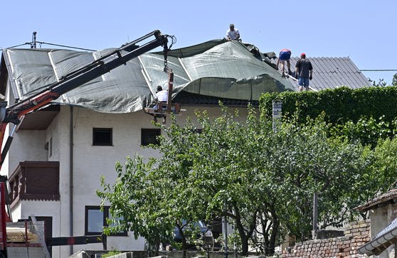 In Schrattenberg gingen in den vergangenen Tagen gleich zwei schwere Unwetter nieder.