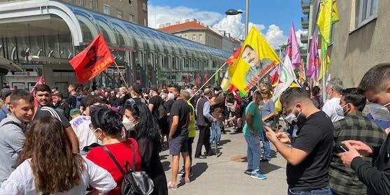 Treffpunkt der Demonstration in Favoriten am 26. Juni 2021