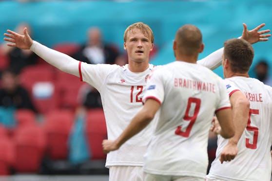 Kasper Dolberg schießt Dänemark ins Viertelfinale
