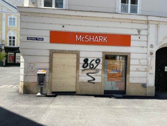 Der Shop wurde bereits vier Mal ausgeräumt.