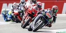 Rossi fliegt ab, Quartararo baut WM-Führung aus