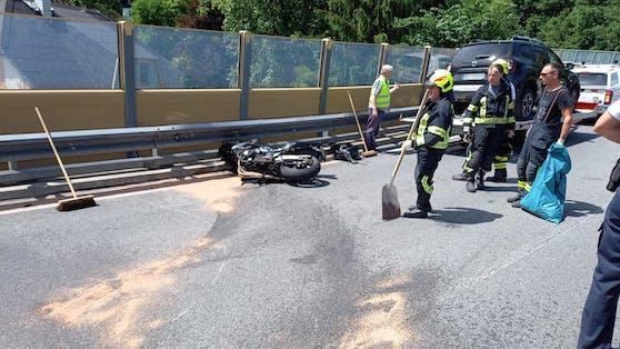 Für den Biker kam jede Hilfe zu spät.