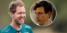 Vettel wählt Grün: Mercedes-Boss Wolff applaudiert