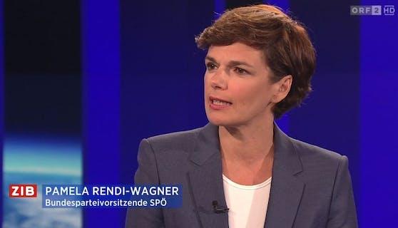 SPÖ-Chefin Pamela Rendi-Wagner in der ZIB2
