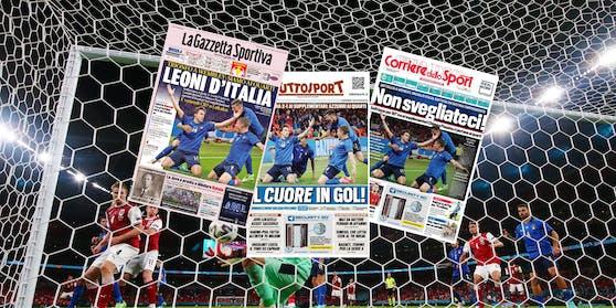 Die italienische Presse war sich bei der Foto-Auswahl einig.