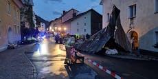Abgedeckte Dächer – Erneut schwere Unwetter in Österreich