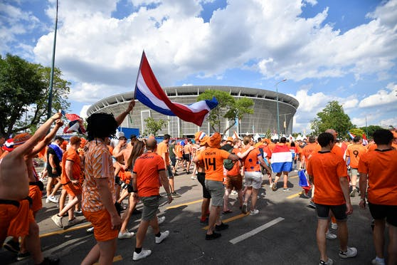 Niederlande-Fans in Budapest