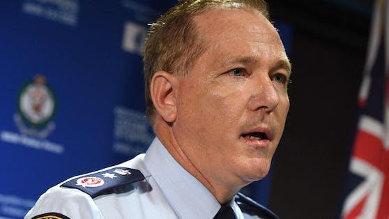 """""""Idioten"""" – der Polizeichef von New South Wales, Mick Fuller, ist sauer."""
