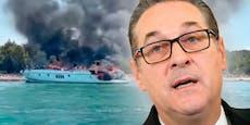 Explosion auf Yacht – Strache entkommt Adria-Inferno