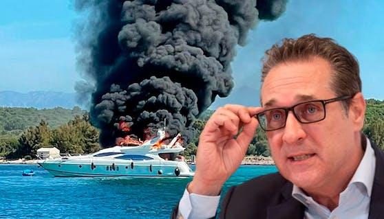 Straches Yacht brannte im Kroatien-Urlaub völlig ab