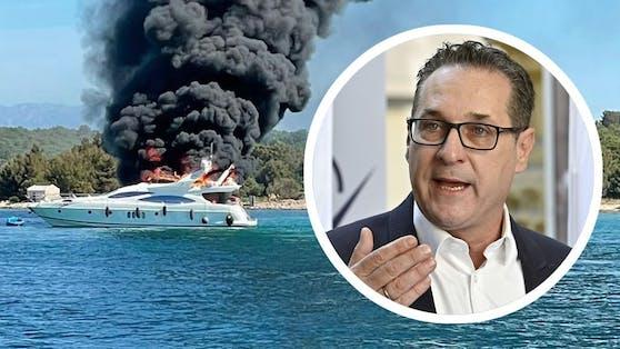 Die Charter-Yacht ging am Sonntag in Flammen auf.