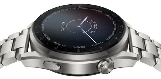 Huawei Watch 3 Pro zeichnet sich durch das überaus widerstandsfähige Saphirglas aus.