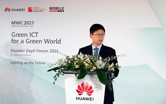 David Li, Präsident von Huawei Western Europe auf dem MWC Barcelona 2021.