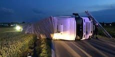 Lkw-Lenker baut mit 2,2 Promille wilden Unfall