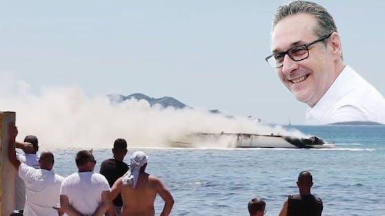 Heinz-Christian Strache hatte bei dem Inferno Glück im Unglück.