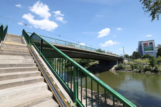 In Zukunft ersetzen zwei Rampen die Stiegen zum Donaukanalufer auf der Döblinger und Brigittenauer Seite.