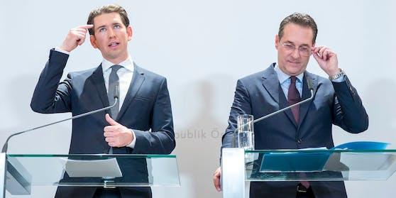 Heinz-Christian Strache unterzog Kanzler Sebastian Kurz (ÖVP) einem Persönlichkeitscheck.