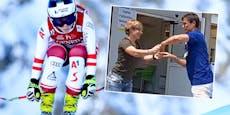 Raus aus der Reha: Ski-Ass Schmidhofer tanzt vor Freude