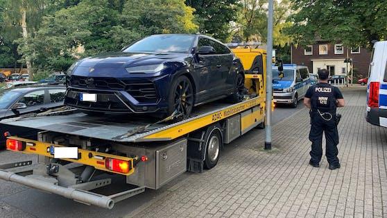 Der Lamborghini Urus wurde von der Polizei sichergestellt.