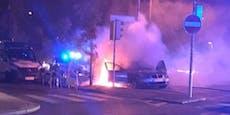 BMW geht bei voller Fahrt am Gürtel in Flammen auf