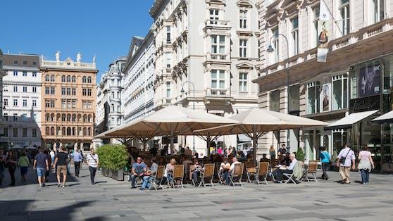 Straßencafe am Graben in Wien (Archivfoto)
