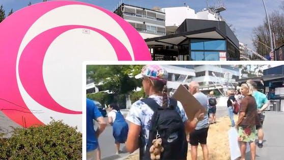 Das ORF-Zentrum wurde am Mittwoch belagert.