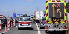 Lenker crasht auf A3 in Polizeiwagen – 3 Verletzte