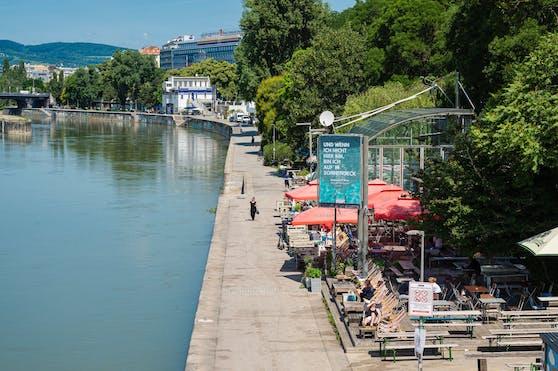 Promenade auf Höhe der Salztorbrücke auf der Seite des zweiten Wiener Bezirkes.(Archivfoto)