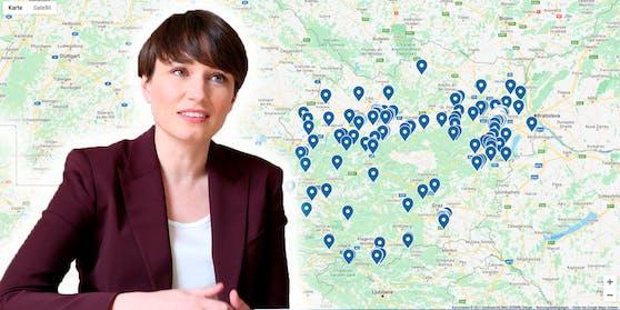 """Die grüne Klubobfrau Sigrid Maurer sieht die """"Islam-Landkarte"""" als """"schwer verunglückt""""."""