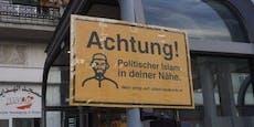 Islamfeindliches Schild nun auch vor Grazer Moschee