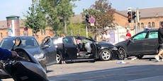 Stau auf Wiener Durchzugsstraße nach Dreifach-Crash