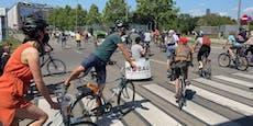 1.500 Radfahrer demonstrierten gegen Lobautunnel