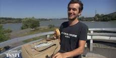 Donauinsel-Fan erheitert ATV-Fans mit pikantem Leiberl