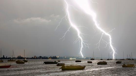 Unwetter über dem Bodensee (Symbolfoto)