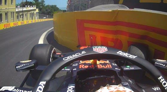 Max Verstappen schrottet im Training sein Auto.