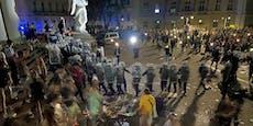 Polizei wird bei Rave-Party mit Flaschen beworfen