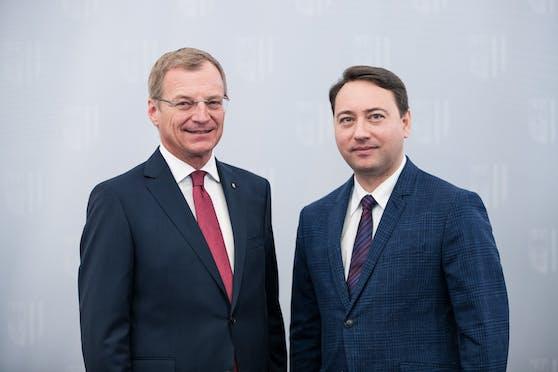 LH Thomas Stelzer (ÖVP) und sein Stellvertreter Manfred Haimbuchner (FPÖ)