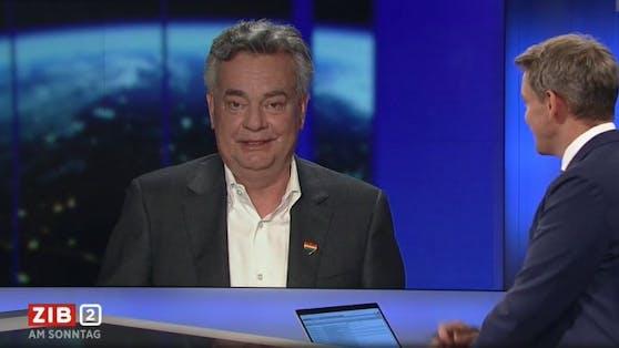 """In der """"ZiB 2"""" kam es Sonntagabend zu einem amüsanten Schlagabtausch zwischen Vizekanzler Kogler und ORF-Moderator Thür."""