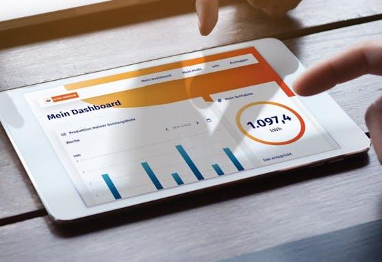 Über persönlichen Zugang auf einer Online-Plattform ist die Produktion der Anlage und damit der Status zur Vergütung jederzeit live abrufbar.