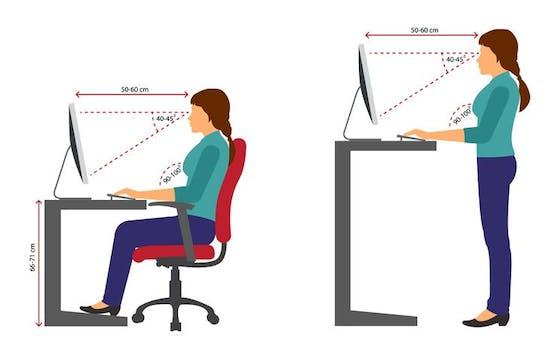 Ergonomisch passende Möbel tragen zum physischen und psychischen Wohlbefinden bei.