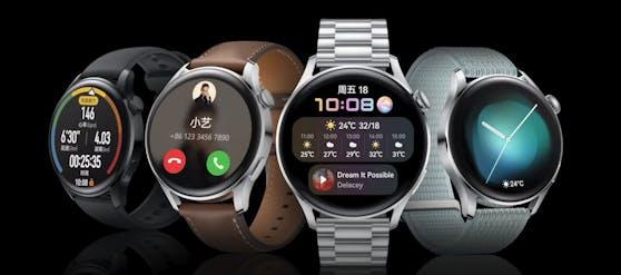 So sehen die neuen Modelle der Huawei Watch 3 Serie aus.