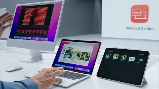 Mit derFunktion Universal Control können Maus und Tastatur künftig vom Macbook auch auf dem iPad genutzt werden.