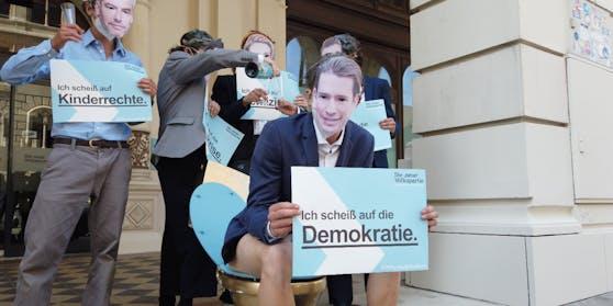 Gruppenfoto der Fake-Minister